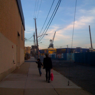 Photo of the day - Nolan & Mark walking around Red Hook, Brooklyn